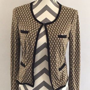 Bailey 44 Multi-Color Geometric Print Cardigan Sm.